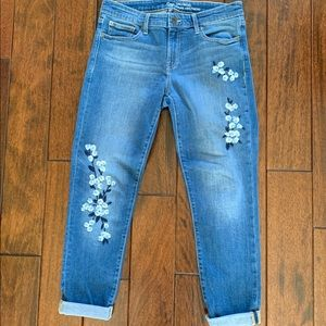 Gap Jean with Flower Embroidery Size 6